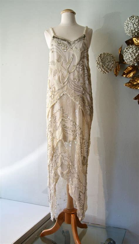 Vintage 20 S Wedding Dresses by Reserved 20s Style Beaded Flapper Wedding Dress 1920s