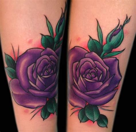 violet and rose tattoo 17 best ideas about purple tattoos on
