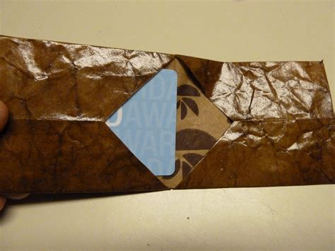 Origami Paper Bag - make it easy crafts leather like brown paper bag origami