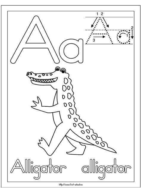 alligator coloring pages preschool alligator picture to color for a week letter a