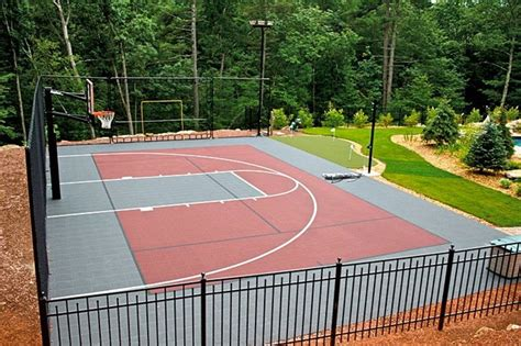 backyard multi sport outdoor courts traditional