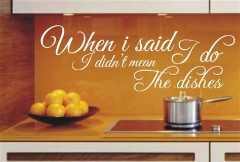 Home Design Decor Shopping Review by When I Said I Do Funny Kitchen Wall Art Sticker Quote 132