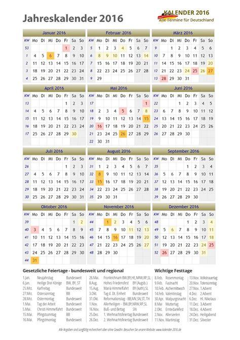 Wochen Kalender 2016 Kalender 2016 Zum Ausdrucken Pdf Vorlagen