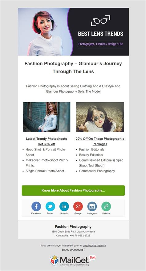 Free Email Templates For Portrait Photographers 9 Best Photographer Email Templates For Photo Studios Formget
