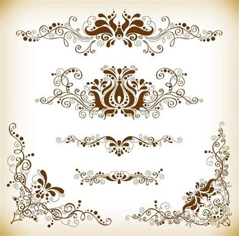 Kartu Nama Browh vintage design element vector graphis set fichiers