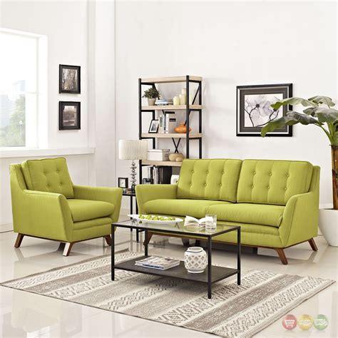 Upholstered Living Room Sets Beguile 2pc Upholstered Loveseat Armchair Living Room Set Wheatgrass