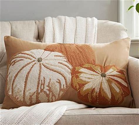 Pottery Barn Pumpkin Pillow by Pumpkin Embroidered Lumbar Pillow Cover Pottery Barn