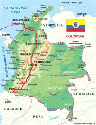 map columbia south america detailed road map of colombia with airports colombia