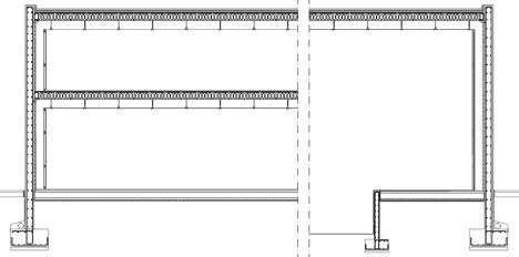 capannone industriale dwg deposito stoccaggio dwg