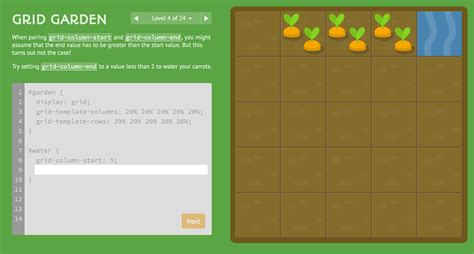 grid layout en francais grid garden a game for learning css grid layout