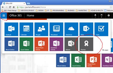 Office 365 Portal Partner Solved Microsoft Partner Menu Tab Missing From Office 365