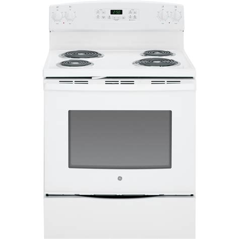 white electric range shop ge freestanding 5 3 cu ft self cleaning electric