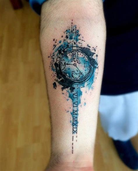 watercolor clock forearm 100 awesome