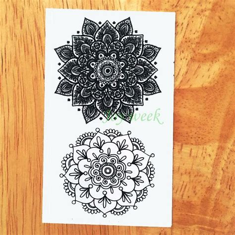 Lotus Waterproof Temporary waterproof temporary sticker lotus mandala