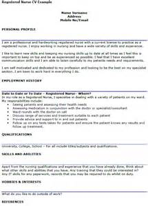 registered nurse cv example icover org uk
