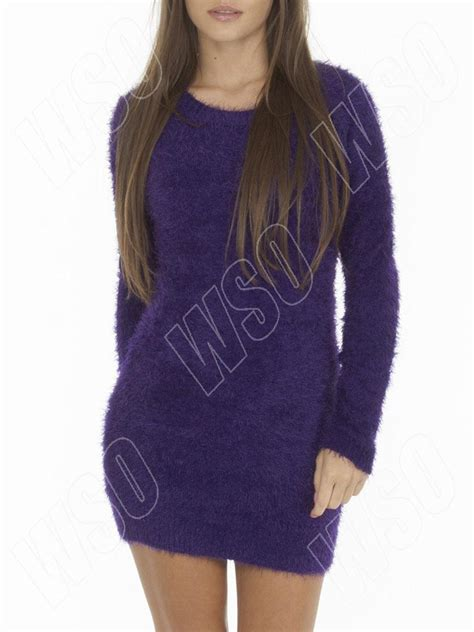 boat neck ladies jumpers new ladies womens winter fluffy furry boat neck jumper