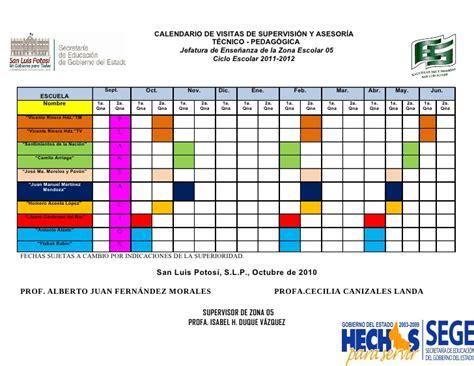 Calendario Contador Calendario De Visitas De Supervisi 243 N Y Asesor 237 A T 233 Cnico