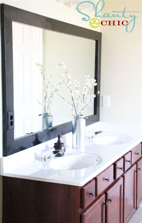 large bathroom mirrors cheap cheap bathroom mirror frame shanty 2 chic