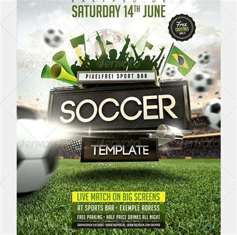sports event flyer template soccer tournament flyer design design