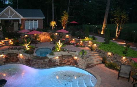 Pool Landscape Lighting Local Ga Pool Renovation Contractors Local Ga Pool Remodel Landscaping Contractor Company Cost