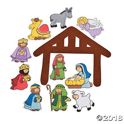 nativity felt cutouts learning charts teacher resources