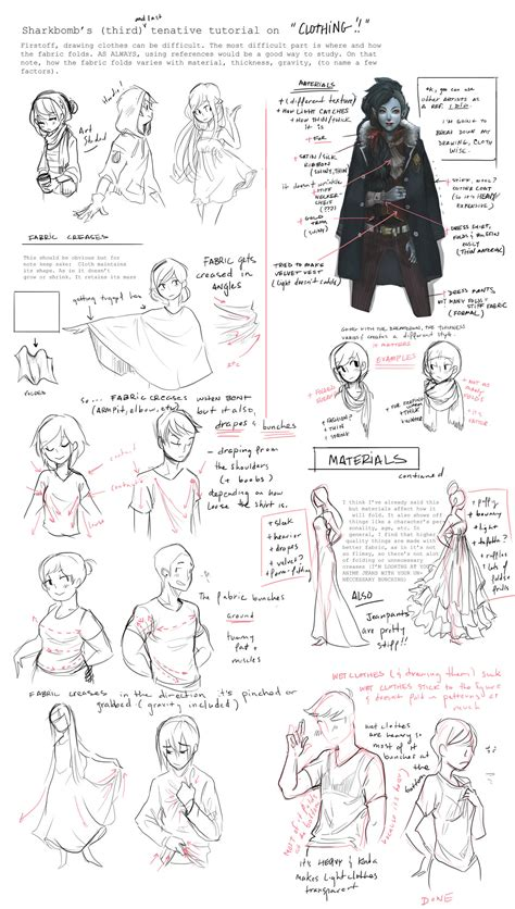 doodle drawing tutorial clothing tutorial notes by shark bomb on deviantart