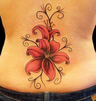 lily swirl tattoo designs stargazer patterns tattoos