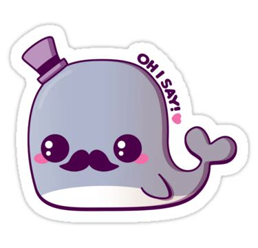 Fancy Mugs quot kawaii fancy whale quot stickers by pai thagoras redbubble
