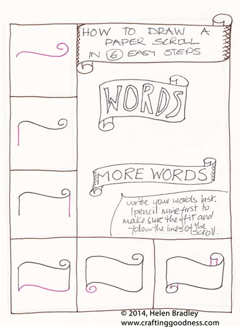 how to make a doodle name step by step draw a word scroll banner step by step learn to draw