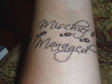mischief tattoo best 25 mischief managed ideas on