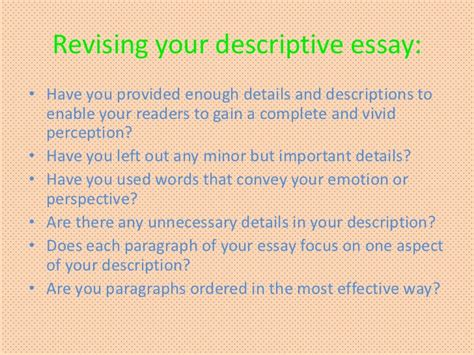 Descriptive Essay Small Town descriptive writing