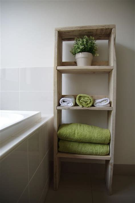wooden bathroom storage units diy pallet wood bookcase bathroom storage unit pallet