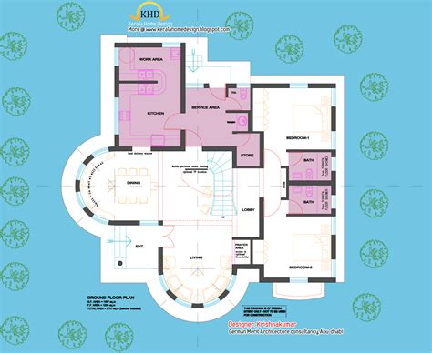 layout for villa 2761 sq feet semi circular shaped villa kerala home