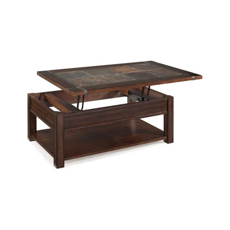 magnussen roanoke wood lift top coffee table in cherry and