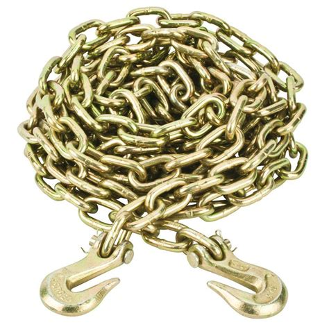 cadenas towing everbilt 5 16 in x 20 ft grade 70 tow chain with grab