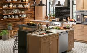 Urban Kitchen Design by Rustic Urban Kitchen Design Photo Ge Appliances