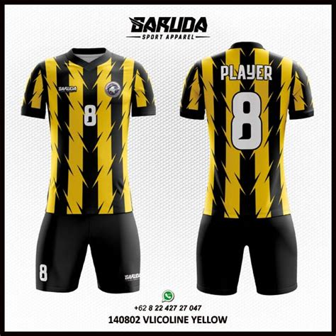 desain kaos futsal online jasa desain kaos futsal kuning hitam garuda print
