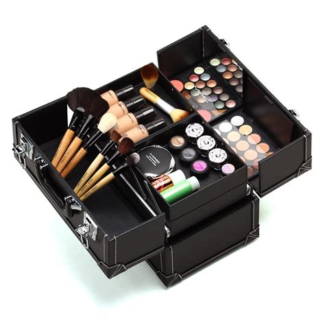 Beautiful Cosmetic Organizers by Makeup Organizer Box For Beautician Ems Dhl 2 Colors Pu