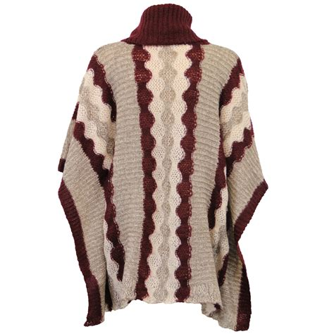 knitted cape poncho poncho womens cable knitted shawl cape roll neck
