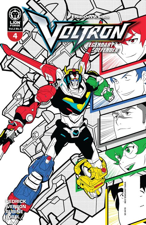 defenders of the white and blue books sep171752 voltron legendary defender vol 2 4 previews