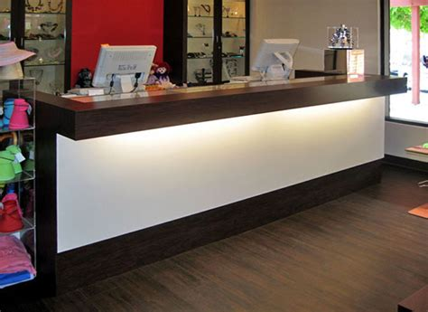 countertop store custom multi station retail counters glass showcase