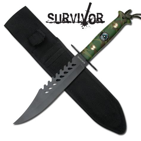camo survival knife camo handle survival knife with compass