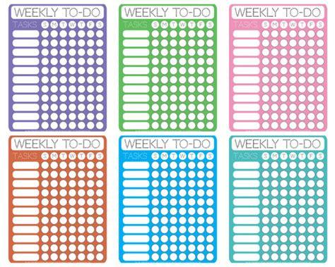 Calendar To Do List Dotty Printable Weekly To Do Checklists Free Printable
