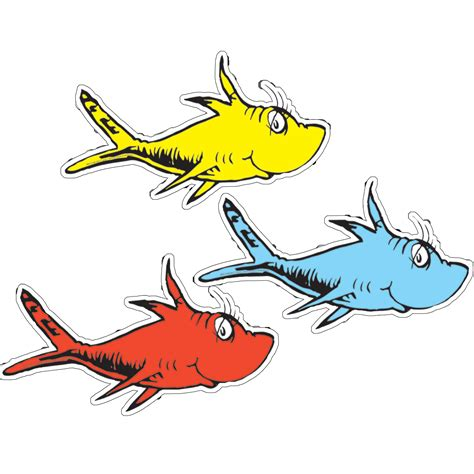 new hears cut dr seuss one fish two fish assorted paper kids cut outs