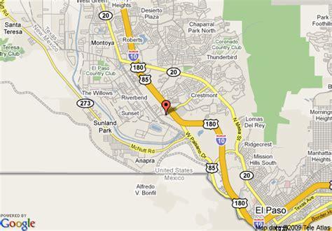 where is el paso texas on the map map of comfort suites el paso el paso