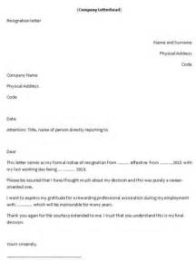 Handing In Resignation Letter by Template Letter Handing In Notice Serversdb Org
