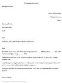 template letter handing in notice serversdb org