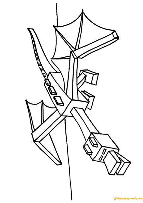 minecraft ender dragon coloring page ender dragon coloring page free coloring pages online
