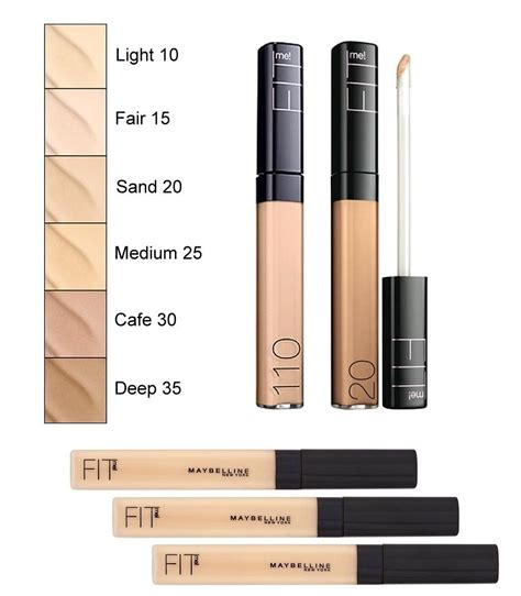 Maybelline Fit Me Concealer No 10 Dan 25 review maybelline fit me concealer in sand 我的美丽日记