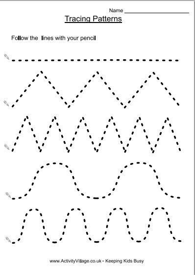 tracing patterns homeschool 5 years
